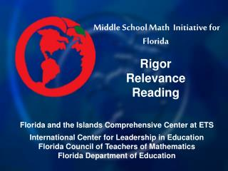 Middle School Math  Initiative for Florida Rigor Relevance  Reading