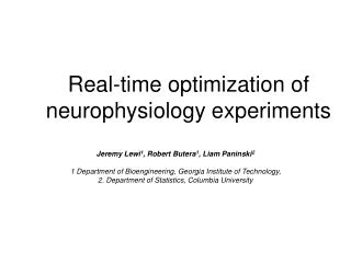 Real-time optimization of neurophysiology experiments