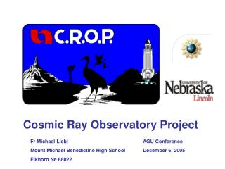 Cosmic Ray Observatory Project