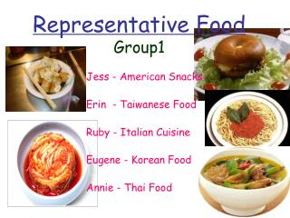 Representative Food Group1