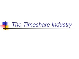 The Timeshare Industry