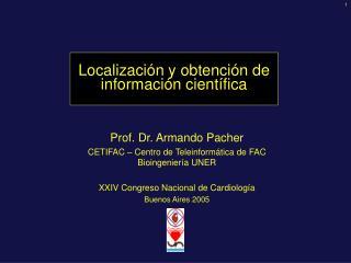 Localización y obtención de información científica