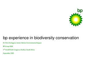 bp experience in biodiversity conservation