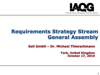 Requirements Strategy Stream General Assembly