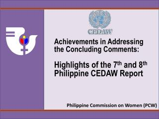 Philippine Commission on Women (PCW)