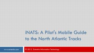 iNATS: iPad App Guide for North Atlantic Tracks System, Avia