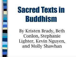 Sacred Texts in Buddhism