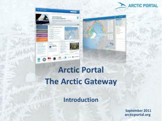 Arctic Portal The Arctic Gateway