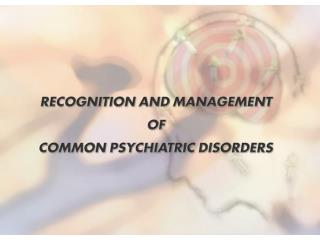 Major Depressive Disorder   Presenting Complaints