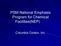 PSM National Emphasis Program for Chemical FacilitiesNEP