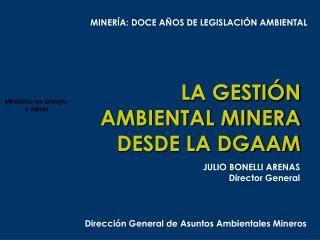 LA GESTIÓN AMBIENTAL MINERA DESDE LA DGAAM