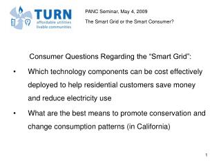 "Consumer Questions Regarding the ""Smart Grid"":"