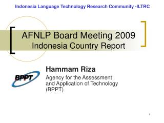 AFNLP Board Meeting 2009 Indonesia Country Report