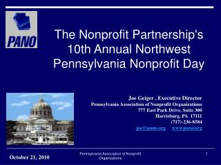 The Nonprofit Partnership's 10th Annual Northwest Pennsylvania Nonprofit Day