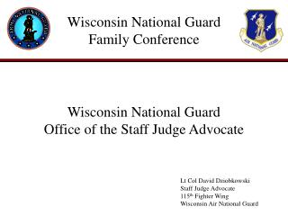 Wisconsin National Guard Family Conference