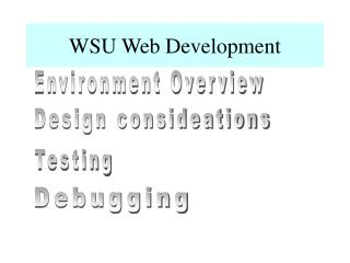 WSU Web Development