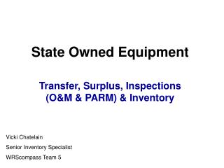 State Owned Equipment