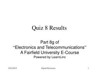 Quiz 8 Results
