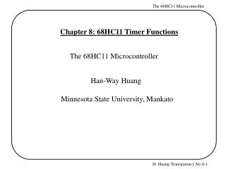 Chapter 8: 68HC11 Timer Functions