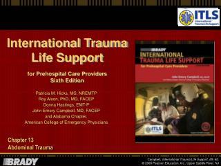 Chapter 13 Abdominal Trauma