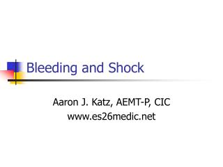 Bleeding and Shock