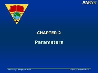 CHAPTER 2 Parameters