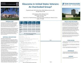 Glaucoma in United States Veterans:  An Overlooked Group?