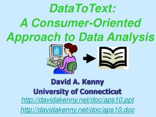 DataToText:  A Consumer-Oriented Approach to Data Analysis