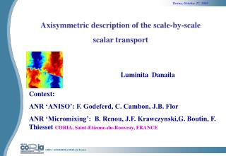 Axisymmetric description of the scale-by-scale scalar transport
