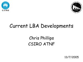Current LBA Developments