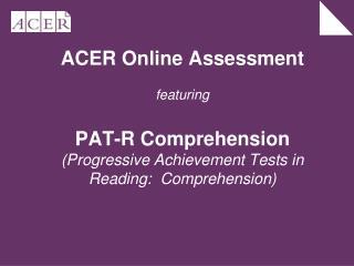 Advantages of Online Assessment