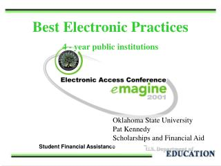 Best Electronic Practices 4 - year public institutions