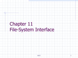 Chapter 11  File-System Interface