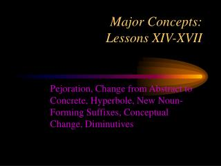 Major Concepts:  Lessons XIV-XVII