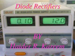 Diode Rectifiers