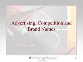 Advertising, Competition and Brand Names