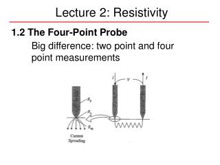 Lecture 2: Resistivity