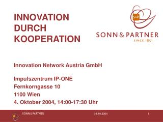 INNOVATION DURCH KOOPERATION