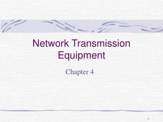Network Transmission Equipment