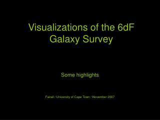 Visualizations of the 6dF Galaxy Survey