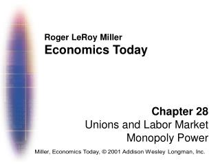 Roger LeRoy Miller Economics Today