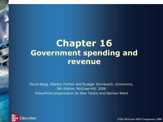 Chapter 16 Government spending and revenue