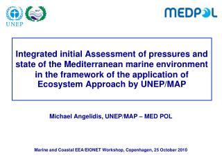 Michael Angelidis, UNEP/MAP – MED POL