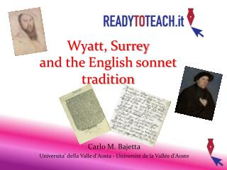 Wyatt, Surrey  and the English sonnet tradition