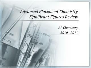 Advanced Placement Chemistry Significant Figures Review