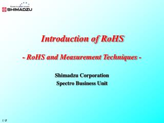 Introduction of RoHS