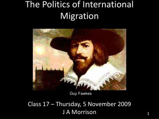 The Politics of International Migration