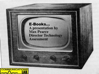 The Electronic Book...