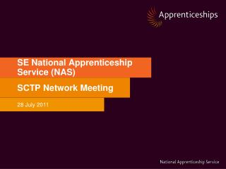 SE National Apprenticeship Service (NAS)