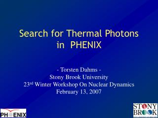 Search for Thermal Photons in  PHENIX